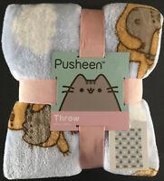 Pusheen The Cat Fleece Decke Kuscheldecke Katze Sofa Wohndecke Überwurf Faultier