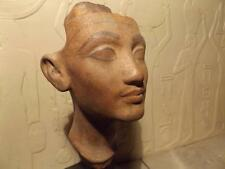 Egyptian statue - Nefertiti bust museum replica. Amarna art - Akhenaten's wife.