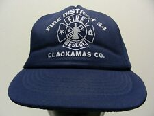 FIRE DISTRICT 54 - CLACKAMAS COUNTY - OREGON - POLY FOAM SNAPBACK BALL CAP HAT!