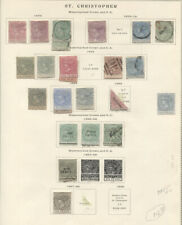 ST. CHRISTOPHER 1870-90 MINT AND USED ON SCOTT PAGE incl. e.g. nos. 1* 2 unused