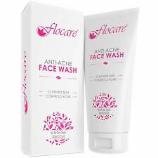 Flocare Face Wash for Oily Dry Sensitive Normal Skin, 60ml Anti-Acne Pack of 3