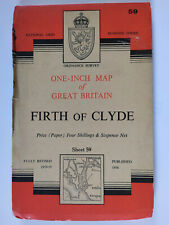 Ordnance Survey Map Sheet 59 Firth of Clyde