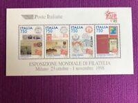 REPUBBLICA 1997   FOGLIETTI ESPOSIZIONE MONDIALE FILATELIA NUOVO MNH**