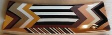 "MISSONI x Target 'Chevron Stripe (Brown)' Plate / Tray / Platter 12"" x 4"" *NEW*"