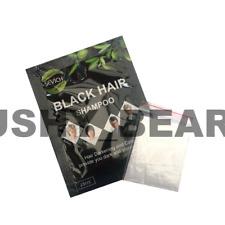 Black Hair Dye Shampoo Sachets - Covers Grey White Hair - Sevich FREE GLOVES UK