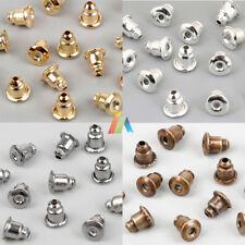 BULLET EARRING BACKS STOPPERS Silver Gold Bronze FINDINGS