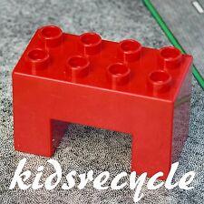 Lego DUPLO Red 2x4x2 Brick BLOCK Square ARCH Table BRIDGE (Spare Part 6394)