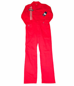 Dickies Red Coveralls Long Sleeve Women's Junior  Medium Racing NWT