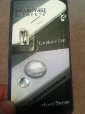SWAROVSKI ELEMENTS Pulsante Home & EARPHONE Socket CAP per APPLE IPHONE IPAD IPOD