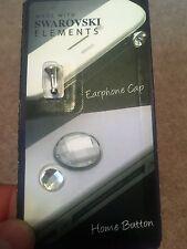 Swarovski Elements Home Button & Earphone Socket Cap for Apple iPhone iPad iPod