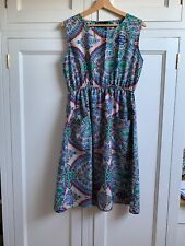 TK Maxx Paisley Print Dress UK Size 16