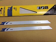 Stanley Reciprocating Saw Blades metal 228mm 2pc fits makita dewalt Bosch hilti