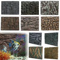 1/2X 3D Foam PU Rock Reptile Aquarium Fish Tank Background Backdrop Plate  UK