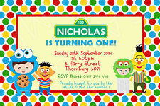 Personalised Sesame Street Birthday Party Invite Invitation