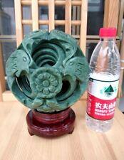 Rare Huge interlink 8 Sphere Magic Puzzle Ball Lucky geomantic omen Green Jade