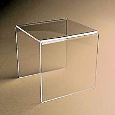 """~3 Clear Acrylic / Plastic Risers Display Stand Pedestal 2"""" x 2"""" x 2"""""""