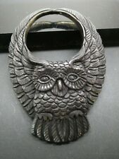 Flying Owl Carved Black Water Buffalo Horn Bubalus Bubalis Pendant Necklace Cord