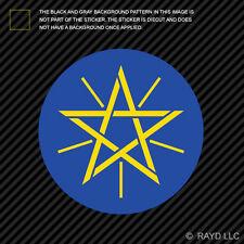Ethiopian Emblem Sticker Decal Self Adhesive Vinyl Ethiopia flag ETH ET