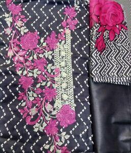 Asian pakistani shalwar kameez unstitched suits 3 piece Linen