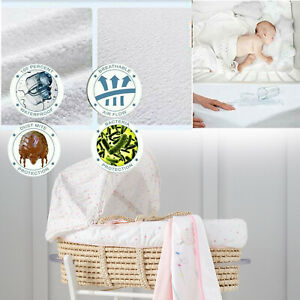 WATERPROOF BABY MOSES BASKET MATTRESS PROTECTOR FITTED TERRY SHEET