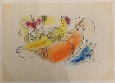 Marc Chagall L'accordéoniste Lithographie Originale 1957