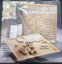 Wine Enthusiast Wine Cork Board Kit New! Great Gift!