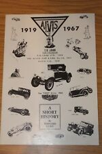 Alvis 1919 - 1967 A Short History by Bernard Light Reprinted by Alvis Cars 1973