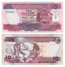 Unc Solomon Islands $10 Dollars (1986) P-15 Banknotes Paper Money