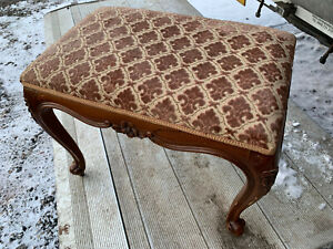 Vintage Decorative carved wood dressing table stool lot CE110221E