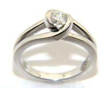 mujer, 9ct / 9ct Oro Anillo con un un diamante, Tamaño RU I