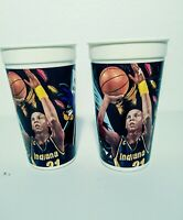 Vintage NBA Looney Tunes All Stars 1995 Reggie Miller Lot of (2) McDonalds Cups