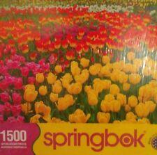 Springbok Tulip Garden 1500 Piece Jigsaw Puzzle Sealed Jardin de Tulipanes NIB