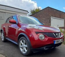 Nissan Juke Acenta metallic red 5 door hatchback petrol 2011 1.6