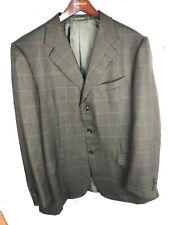 Ermenegildo Zegna Trofeo Green Checked Windowpane Sport Coat Sz 44 R