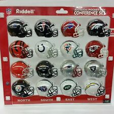 Riddell, AFC Conference Revolution Helmet Pocket Pro Set, NEW (16-Piece)