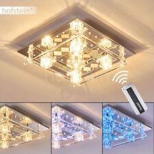 LED Decken Lampen Design Fernbedienung Flur Wohn Schlaf Zimmer Beleuchtung Glas