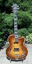 1956 Hofner 468 Archtop guitar w/case . Nice flame maple!