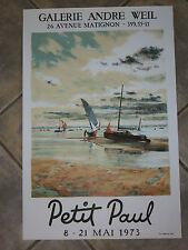 Litho : Affiche exposition du peintre PETIT PAUL, époque 20ème.