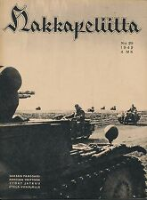 Finland Wartime Magazine Hakkapeliitta 1942 #29 - WWII German vehicles in Russia