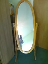 Wooden full length cheval mirror. Collection NE16