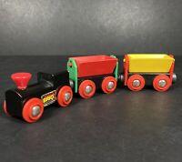Brio Vintage Wooden Steam Train Cargo Carriage Bundle 3 Piece Spares Magnetic