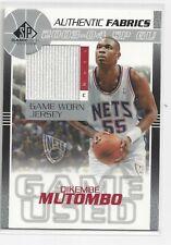 2003-04 Upper Deck Dikembe Mutumbo Game Used Jersey SP Authentic Fabrics