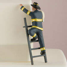 Fireman Groom Cake Topper Wedding Gift Firefighter COLOR CUSTOMIZATION Available