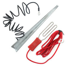 Earth Stake + Electric Fence Lead Energiser / Energizer Connection Cable Kit