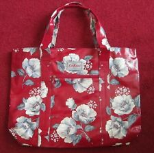 Brand New With Tags Cath Kidston Large Tote Bag In Red WIth Floral Design