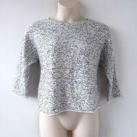 Chico Sequined Black and White Cropped Pullover Sweater EUC - Size Small