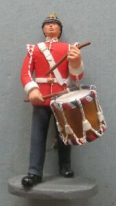 Soldiers of the Queen painted pewter figure: Drummer boy of the Border Regiment