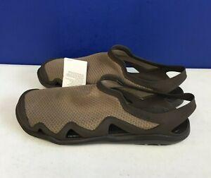 Crocs Swiftwater Mesh Wave Sandals Beach Walnut Espresso 205701-23J Men's Sz 13
