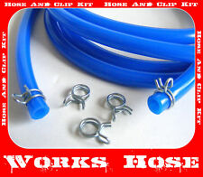 YZ 125, 250, 5MM ID FUEL CARB PIPE HOSE BLUE & CLIPS 2m LENGTH YAMAHA YZ 125 250