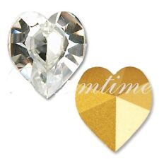 SWAROVSKI ® -Cuore 2 Pz  4800-18,7x17 mm. Crystal Clear Original Superior Gold F